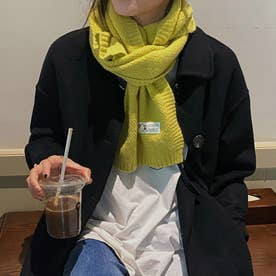 ケーブル編みマフラー (グリーン)