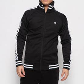 2ライントラックジャケット (ブラック×ホワイト)