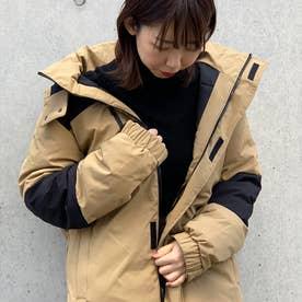 防風ストレッチ切替中綿ジャケット (ベージュ)
