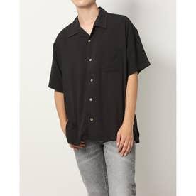 レーヨンビッグオープンシャツ (ブラック)