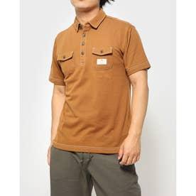 カノコ配色ステッチワークポロシャツ (Dベージュ)