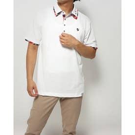 カノコ1ポイント刺繍2枚衿ポロシャツ (オフ)