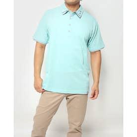 カノコ1ポイント刺繍2枚衿ポロシャツ (ミント)