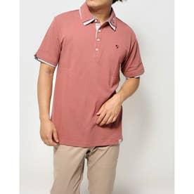 カノコ1ポイント刺繍2枚衿ポロシャツ (ピンク)