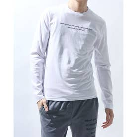 (27406)筆記ロゴバックプリントプリントロングTシャツ (バックプリントホワイト)
