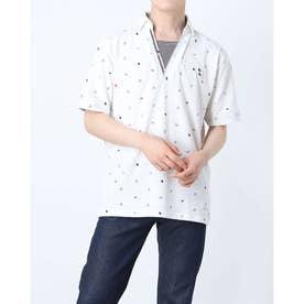 カノコ総柄プリントポロシャツ (オフホワイト)