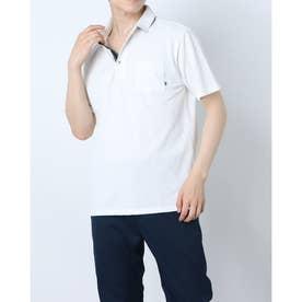 カノコダブルフェイスリブポロシャツ (ホワイト)