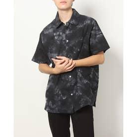 タイダイ染め半袖ビッグシャツ (ブラック)