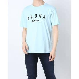 半袖プリントTシャツ (サックス)