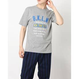 半袖ロゴプリントTシャツ (杢グレー)