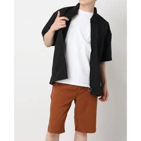 スウィングトップ半袖ビッグジャケット (ブラック)
