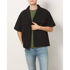 ポリトロストレッチシャツジャケット (ブラック)