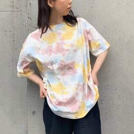 タイダイ柄半袖ビッグTシャツ (ブルー)