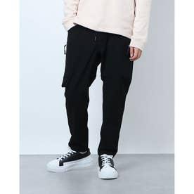 2重織り4WAYナイロン多ポケットパンツ (ブラック)