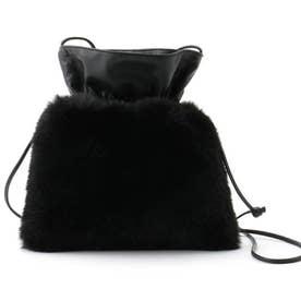 エコファーミニショルダーバッグ (ブラック)