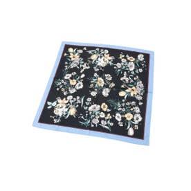 ボタニカル柄スカーフ (ブラック(119))