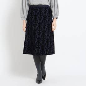 フロッキーAラインスカート (ネイビー)