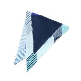 プリーツスカーフ (ブルー)
