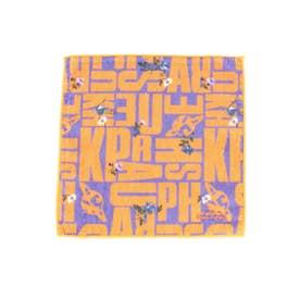 リバイバルロゴ×フラワープリントハンドタオル (オレンジ)