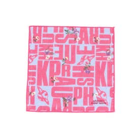 リバイバルロゴ×フラワープリントハンドタオル (ピンク)