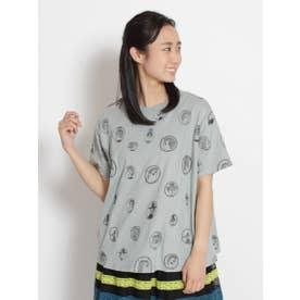 アーティストコラボ企画「個性的な人々について」刺しゅうTシャツ (グリーン)