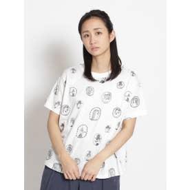 アーティストコラボ企画「個性的な人々について」刺しゅうTシャツ (ホワイト)