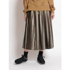 ラメプリーツスカート (ゴールド)