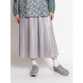 ラメプリーツスカート (シルバー)