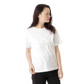 イニシャルフロッキープリントTシャツ (ホワイト)
