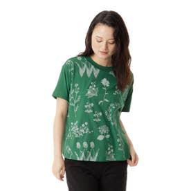 フラワーケイブプリントTシャツ (グリーン)