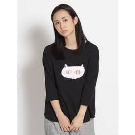 アーティストコラボ企画「両方ともすき」プリント×刺しゅうTシャツ (ブラック)
