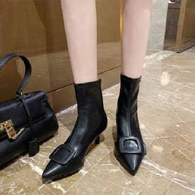 バックルショートブーツ (ブラック)