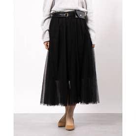 チュールスカート (ブラック)