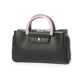 ナーセシリーズ 木製ハンドル お財布ポシェット84985 (ブラック)