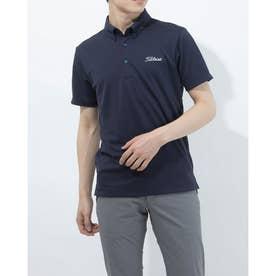 メンズ ゴルフ 半袖シャツ ブライトジャガードシャツ TSMC2107 0353179626 (ネイビー)