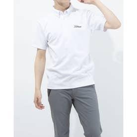 メンズ ゴルフ 半袖シャツ ブライトジャガードシャツ TSMC2107 0353179725 (ホワイト)