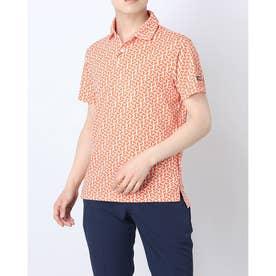メンズ ゴルフ 半袖シャツ デルタメッシュシャツ TSMC2121 0353182176 (オレンジ)