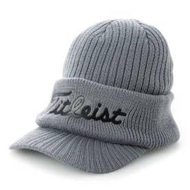 メンズ ゴルフ ニット帽子 バイザー付ニットキャップ_HW1CVK 0353421497 (グレー)