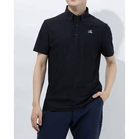 メンズ ゴルフ 半袖シャツ TM ボタンダウン S/S ポロ TB124 (ブラック)
