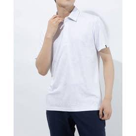 メンズ ゴルフ 半袖シャツ ガーデンジャカード S/S ポロ TB112 (ホワイト)