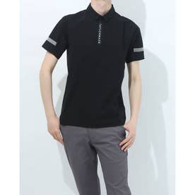 メンズ ゴルフ 半袖シャツ ダブルテーラード シームレス S/S ポロ TB111 (ブラック)