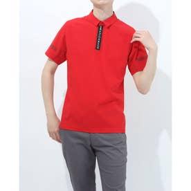 メンズ ゴルフ 半袖シャツ ダブルテーラード シームレス S/S ポロ TB111 (レッド)