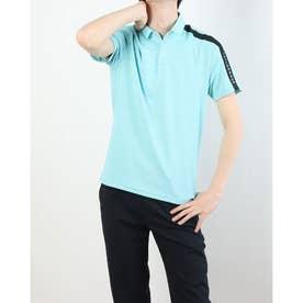 メンズ ゴルフ 半袖シャツ コントラストバー S/S ポロ TB160 (ブルー)