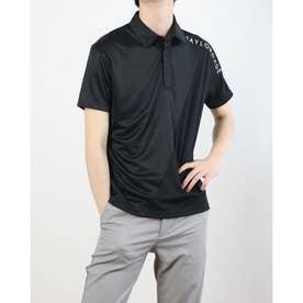 メンズ ゴルフ 半袖シャツ ダブルテーラードクーリング S/S ポロ TB133 (ブラック)