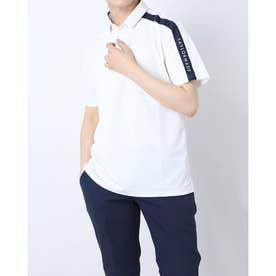 メンズ ゴルフ 半袖シャツ コントラストバー S/S ポロ TB160 (ホワイト)