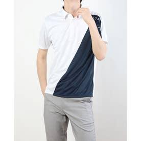 メンズ ゴルフ 半袖シャツ ダブルテーラードクーリング S/S ポロ TB133 (ホワイト)