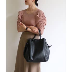 A4巾着トートバッグ (ブラック)