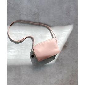 カードポケット付ミニショルダーバッグ (ピンク)