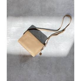 カードポケット付ミニショルダーバッグ (ベージュ)