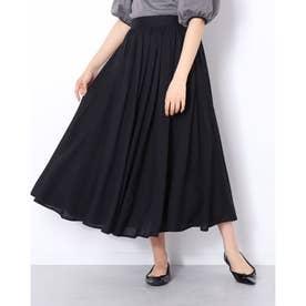 ギャザーロングスカート (ブラック)